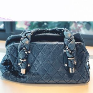Chanel Quilted Braided Handle Handbag